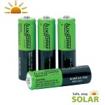 Luxform AA Solar Rechargeable Battery 800mAh 1.2v (4 Pack)