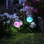Smart Solar Crackle Globe Lantern (Pack of 2)