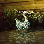 Smart Solar Metal Silhouette – Duck