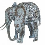 Smart Solar Metal Silhouette – Elephant