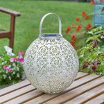 Smart Solar Damasque Cream Lantern
