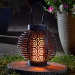 Smart Solar Ferrara Flaming Lantern