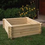 Norlog Buildround 36×36 Inch Square Planter