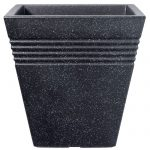 Stewart 34cm Square Piazza Planter (Granite Colour)