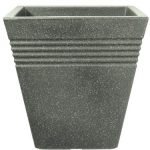 Stewart 34cm Square Piazza Planter (Marble Green)