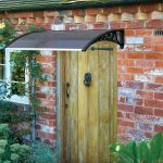 Gablemere 1M Door Canopy Black Grey Cover