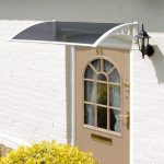 Gablemere 1.2M Door Canopy-White Grey Cover