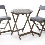 Greenhurst Raffles Bistro Set with Cushions Grey