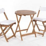 Greenhurst Raffles Bistro Set with Cushions Natural