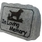 Vivid Arts Dog Remembrance – Loving Memory Rock (Grey Granite)