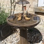 Smart Solar Umbrella Fountain – Duck Family – Bronze Effect