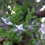 Smart Solar 10 Metal Stars White LEDs Solar String Lights
