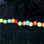 Smart Solar 10 Chinese Multicoloured Lanterns White LEDs Solar String Lights