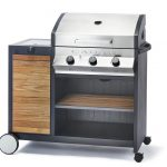 Cadac Meridian 3 Burner with Side Burner Gas BBQ (Woody)