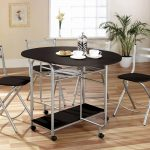 Greenhurst Stowaway Dining Set (Black/Silver)
