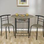 Greenhurst Stylish Compact Dining Table (Grey/Black)