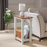 Greenhurst End Table with Magazine Rack and Pull Out Tray