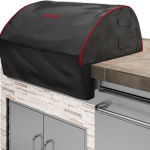 Bull BBQ Premium Built In Grill Head Cover 76cm (Black with Red Piping)