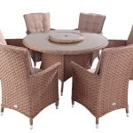 Hartman Heritage 6 Seat Round Dining Set With Lazy Susan (Bark and Sand)