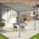 Palram FERIA PATIO COVER 3X3.05 (GREY) – CLEAR