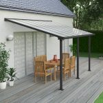 Palram Olympia Patio Cover 3 x 4.25m Grey – Clear