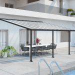 Palram Olympia Patio Cover 3 x 5.46m Grey – Clear