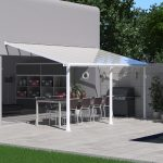 Palram Olympia Patio Cover 3 x 5.46m White – Clear