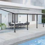 Palram Olympia Patio Cover 3 x 6.1m Grey – Clear