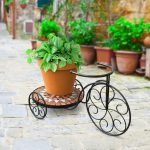 Panacea Rustica Italia Mosaic Tile Tricycle Plant Stand