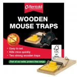 Rentokil Wooden Mouse Traps (Twin Pack)