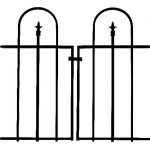 Panacea Gate for Triple Arch Finial Fence (Black)