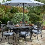 Hartman Amalfi Oval 6 Seater Dining Set (Antique Grey/Platinum)