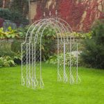 Panacea 3 Section Lattice Arbour with Connecting Pieces (White)