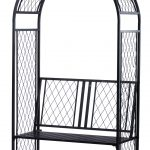 Panacea Lattice Arch with Bench (Black)