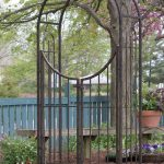Panacea Arched Top Garden Arch with Gate (Brushed Bronze)