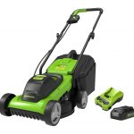 Greenworks 24V 32cm Lawnmower with 2Ah Battery and Charger