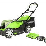 Greenworks 48V 35cm Lawnmower with 2 x 2Ah Batteries and Charger