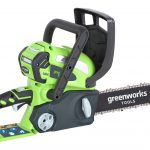Greenworks G40CS30K2 40v 30cm (12″) Chainsaw with 2Ah battery and charger