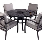 Hartman Jamie Oliver 4 Seat Firepit Set & Accessories (Riven/Pewter)