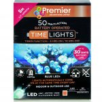 Premier 50 Multi Action Battery LED Christmas Lights (Blue)
