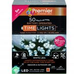 Premier 50 Multi Action Battery LED Christmas Lights (White)