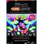 Premier 100 Multi Action Battery LED Christmas Lights (Multi-Colour)