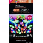 Premier 200 Multi Action Battery LED Christmas Lights (Multi-Colour)