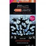 Premier 200 Multi Action Battery LED Christmas Lights (White)
