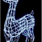Premier 1.8m Acrylic Standing Reindeer with 360 White LEDs Outdoor Christmas Decorations