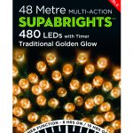Premier Supabright Multi Action 48m LED Christmas Lights (Traditional Golden Glow)