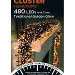 Premier Cluster Supabright Multi-Action 6.2m LED Christmas Lights (Traditional Golden Glow)