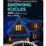Premier Snowing Icicle Multi-Action 11.8m with LED Christmas Lights (Blue/White)