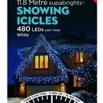 Premier Snowing Icicle Multi-Action 11.8m LED Christmas Lights (White)