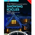 Premier Snowing Icicle Multi-Action 17.8m LED Christmas Lights (Blue/White)